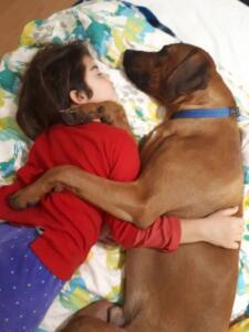 1 mjesto Pas i djevojčica